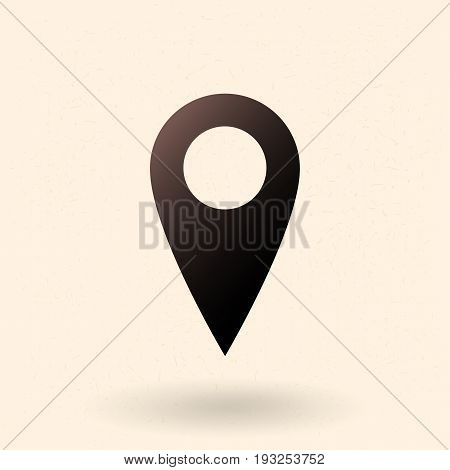 Vector Single Basic Icon - Map Pointer.