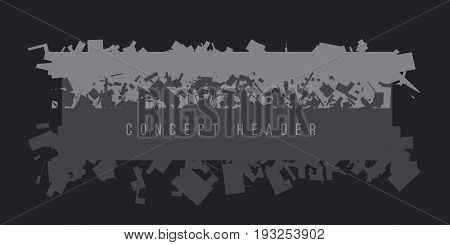 concept abstract chaos geometry header. vector illustration of military style pattern for surface design