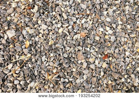 Gravel Texture and rocky soil texture. background