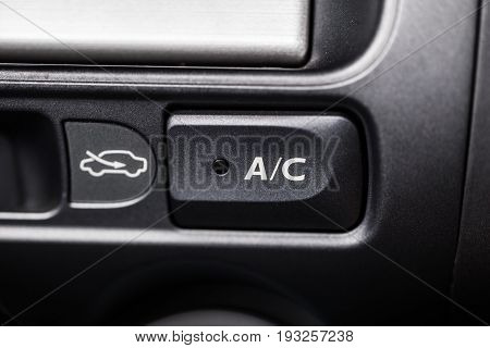 Car AC air conditioner button switch on off.