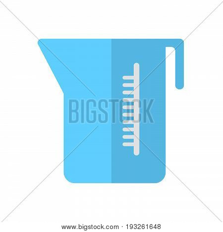 Measuring cup flat icon filled vector sign colorful pictogram isolated on white. Symbol logo illustration. Flat style design