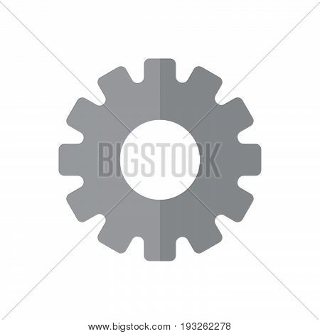 Gearwheel flat icon filled vector sign colorful pictogram isolated on white. Settings symbol logo illustration. Flat style design
