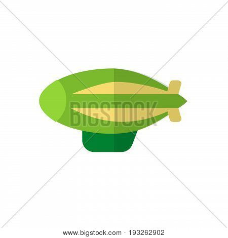zeppelin flat icon filled vector sign colorful pictogram isolated on white. Airship symbol logo illustration. Flat style design