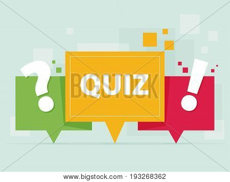 Quiz Related Concept Vector Illustration