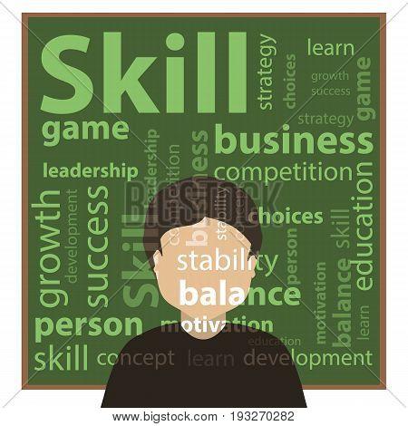 Skill And Skills Concept. Vector Illustration