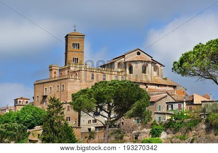 Cathedral of Saint Mary of Assumption at the top of the ancient town of Sutri near Rome