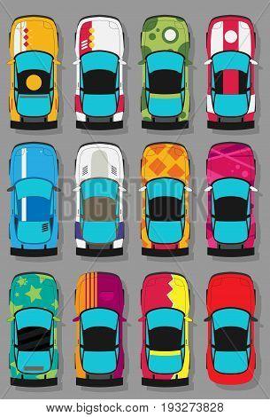 Vector Super Sports Cars Set