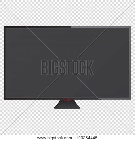 TV on a transparent background. Realistic illustration. Vector. EPS 10