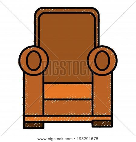 Comfortable couch isolated icon ilustration desing girl