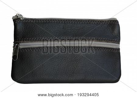 Stylish graphite wallet isolated on white background