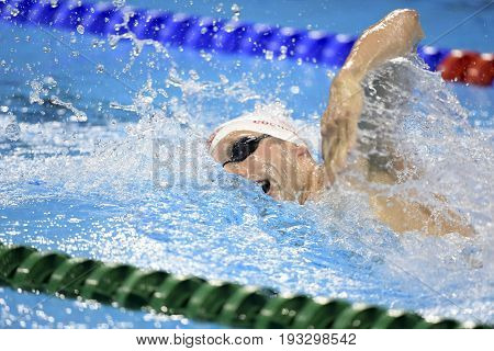 Rio de Janeiro Brazil - august 13 2016: COCHRANE Ryan (CAN) during men's 1500 metre swimming freestyle of the Rio 2016 Olympics Games Rio 2016