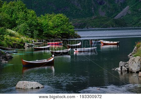 Impression of A, the western-most town of the Lofoten, Norway.