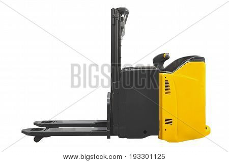 Pallet stacker isolated on a white background