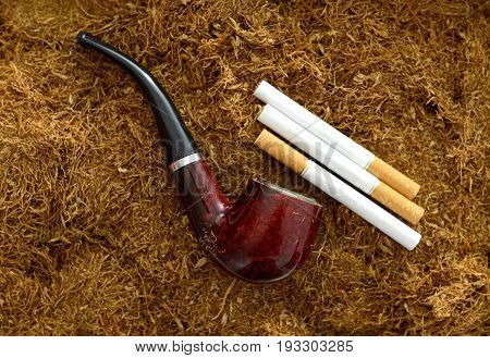 Cigarettes,pipe And Tobacco , Close Up