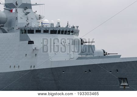 FRIGATE - Portrait of a naval ship at sea