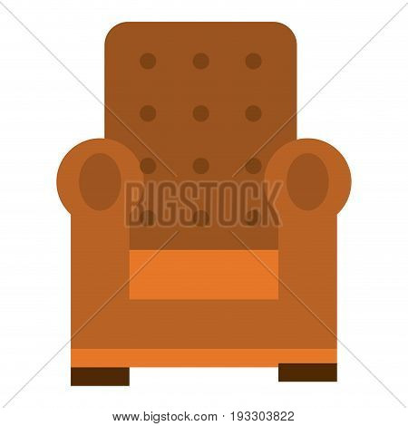 Comfortable couch isolated icon ilustration desing home