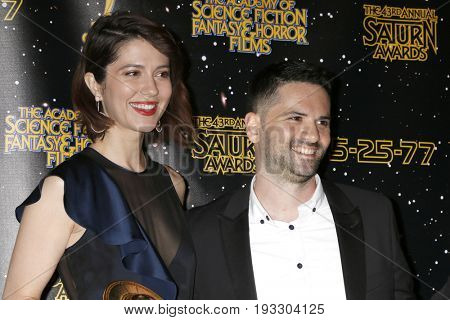 LOS ANGELES - JUN 28:  Mary Elizabeth Winstead, Dan Trachtenberg at the 43rd Annual Saturn Awards - Press Room at the The Castawa on June 28, 2017 in Burbank, CA