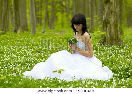 girl on wind shave field