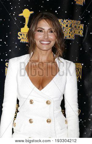 LOS ANGELES - JUN 28:  Sarah Shahi at the 43rd Annual Saturn Awards - Press Room at the The Castawa on June 28, 2017 in Burbank, CA