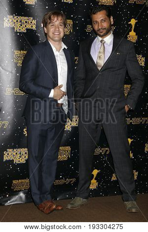 LOS ANGELES - JUN 28:  TR Knight, Cas Anvar at the 43rd Annual Saturn Awards - Press Room at the The Castawa on June 28, 2017 in Burbank, CA