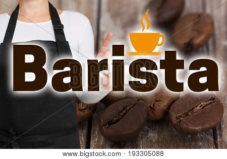 Barista concept is shown by coffee roaster.