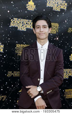 LOS ANGELES - JUN 28:  Lorenzo James Henrie at the 43rd Annual Saturn Awards - Arrivals at the The Castawa on June 28, 2017 in Burbank, CA