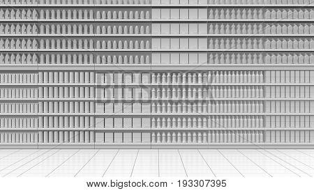 White Supermarket Corridor