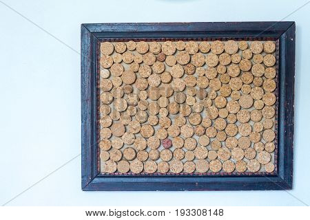background texture made from empty cork memo board.
