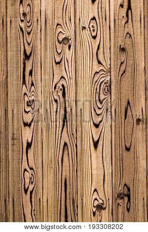 Pine Wood wooden board art wall japanese style fence in Japan.