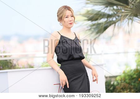 Hye-Jin Jeon attends the 'The Merciless' photocall during the 70th annual Cannes Film Festival at Palais des Festivals on May 25, 2017 in Cannes, France.
