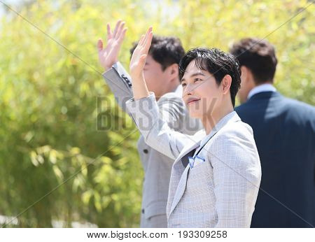 Yim Si-wan attends the 'The Merciless' photocall during the 70th annual Cannes Film Festival at Palais des Festivals on May 25, 2017 in Cannes, France.