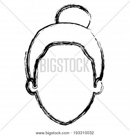 cute grandmother head avatar character vector illustration design