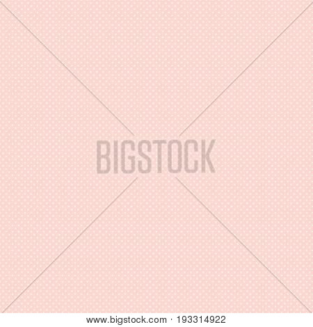 Polka Dot Seamless Pattern. White Dots On Pink Background. Good For Design Of Wrapping Paper, Weddin