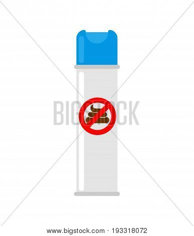 Air Freshener For Toilet. Aerosol Can On White Background