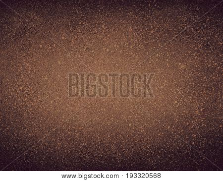 Blank soil background - Ground dirt material brown granular wall texture