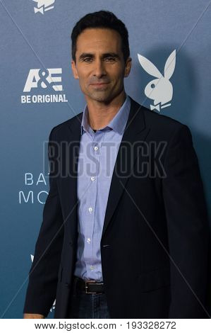 San Diego, CA - July 26, 2014:  Nestor Carbonellof The A&E's Bates Motel arrives  at A&E / Playboy event at Comic Con 2014 in San Diego, CA.