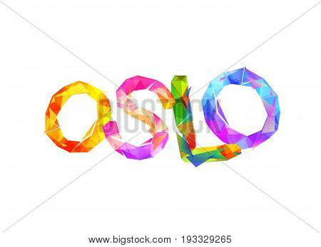 Oslo. City Name Of Triangular Letters