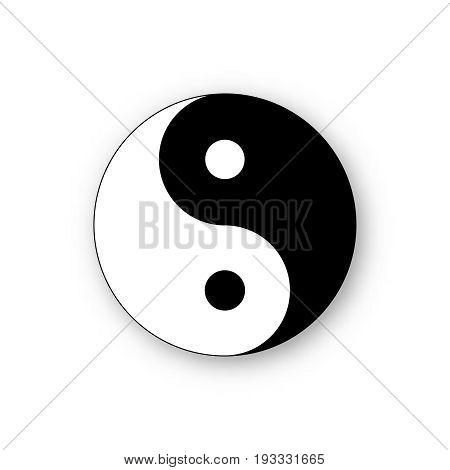 yin yang icon vector harmony symbol  vector