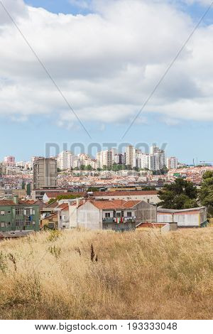 View From Outskirts On City Houses