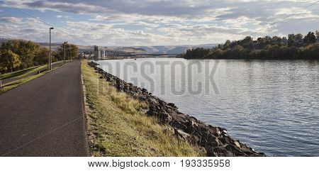 River and walk that run through part of Lewiston Idaho