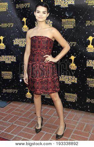 BURBANK - JUN 28: Brianna Hildebrand at the 43rd Annual Saturn Awards at The Castaway on June 28, 2017 in Burbank, California