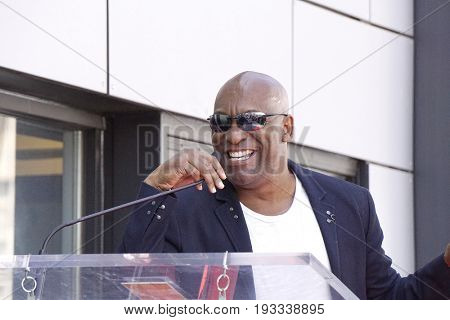 LOS ANGELES - JUN 12: John Singleton at a ceremony as Ice Cube is honored with a star on the Hollywood Walk of Fame on June 12, 2017 in Los Angeles, CA