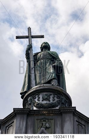 Monument to Saint Vladimir. Baptiser of Russia. Kiev. Ukraine