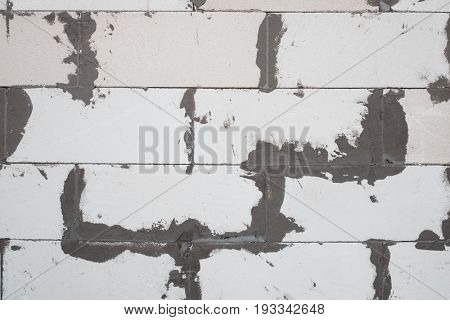 white foam concrete wall texture close up