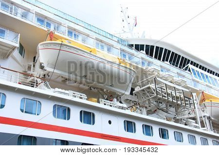 Amsterdam The Netherlands - April 27th 2017: Balmoral Fred Olsen Cruise Lines Safety Vessel