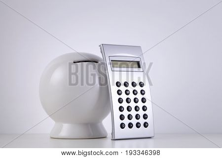 saving coin box with calculator