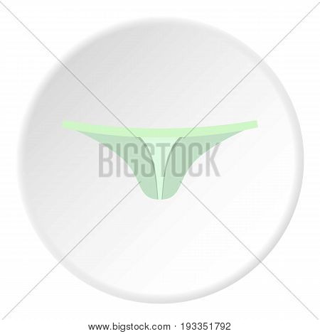 Female thongs icon in flat circle isolated on white background vector illustration for web