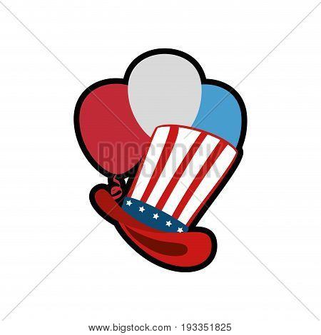 Uncle sam hat icon vector illustration graphic design