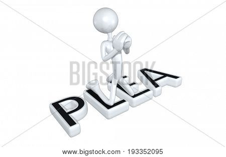 Plea Legal Concept With The Original 3D Character Illustration