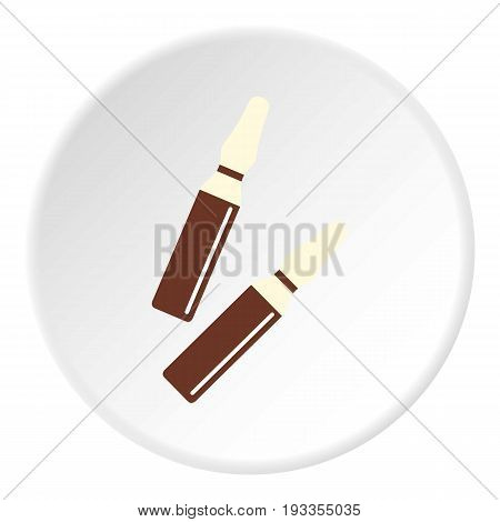 Iodine sticks icon in flat circle isolated on white vector illustration for web